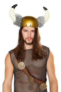 Viking Hat with Faux Fur Detail