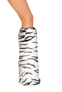 Pair of White Tiger Leg Warmers