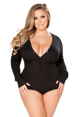 Plus Size Cozy & Comfy Sweater Bodysuit