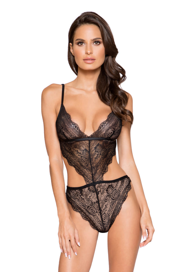 Lace Cutout Teddy