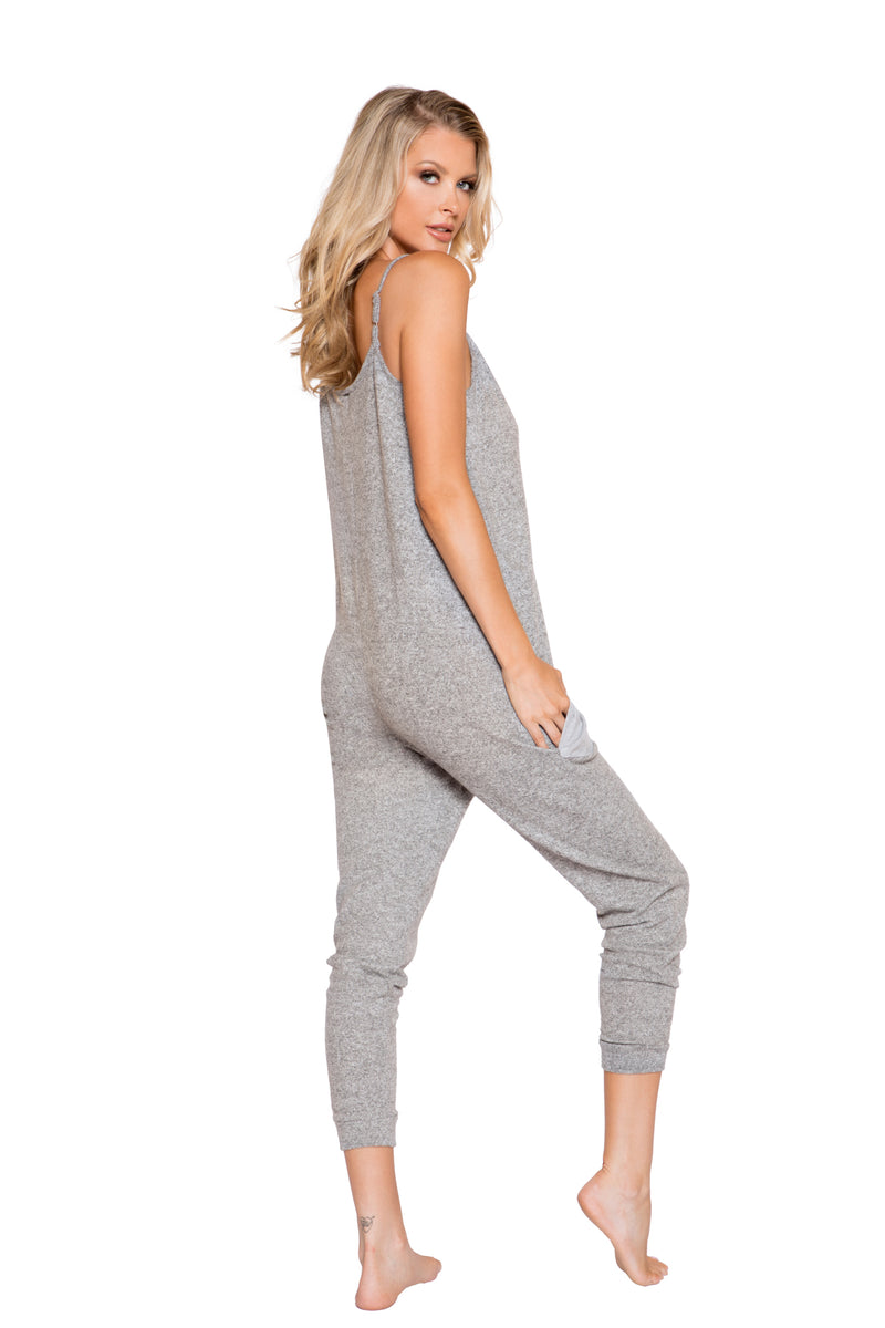 Cozy & Comfy Pajama Jumpsuit with Pocket Details