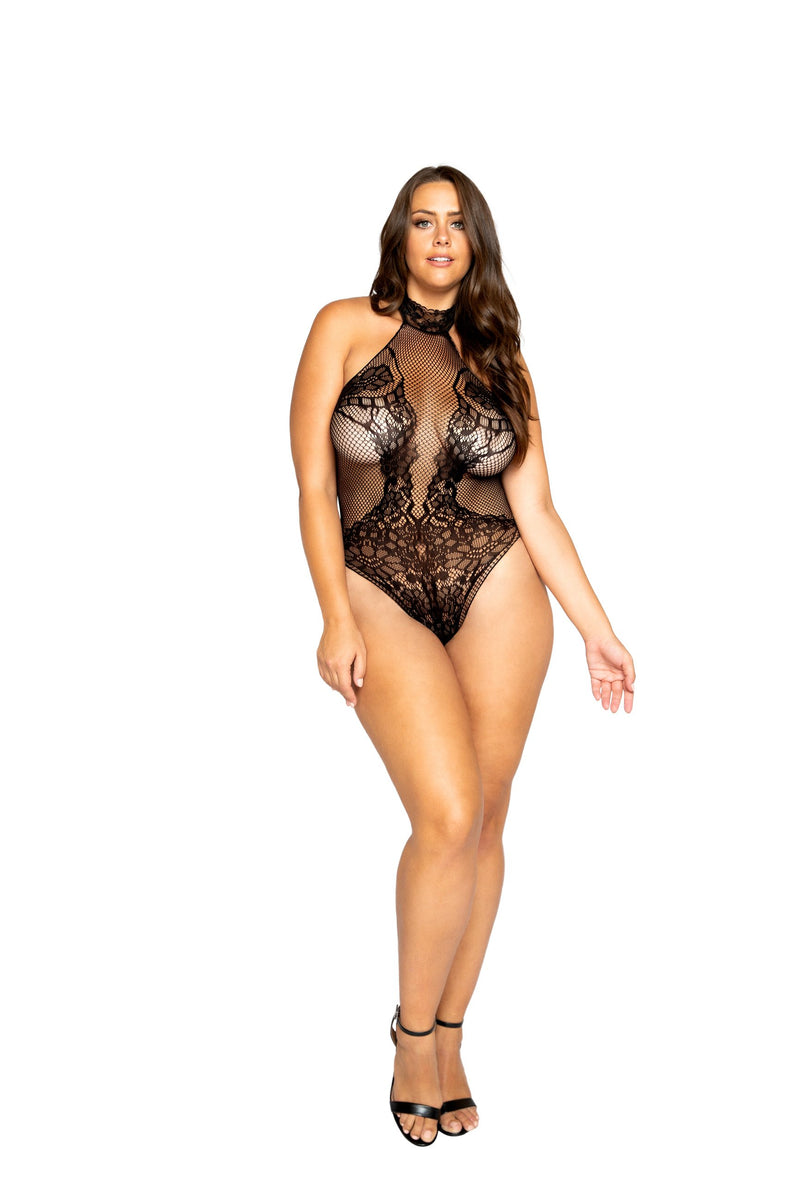 Halterneck Bodystocking Teddy