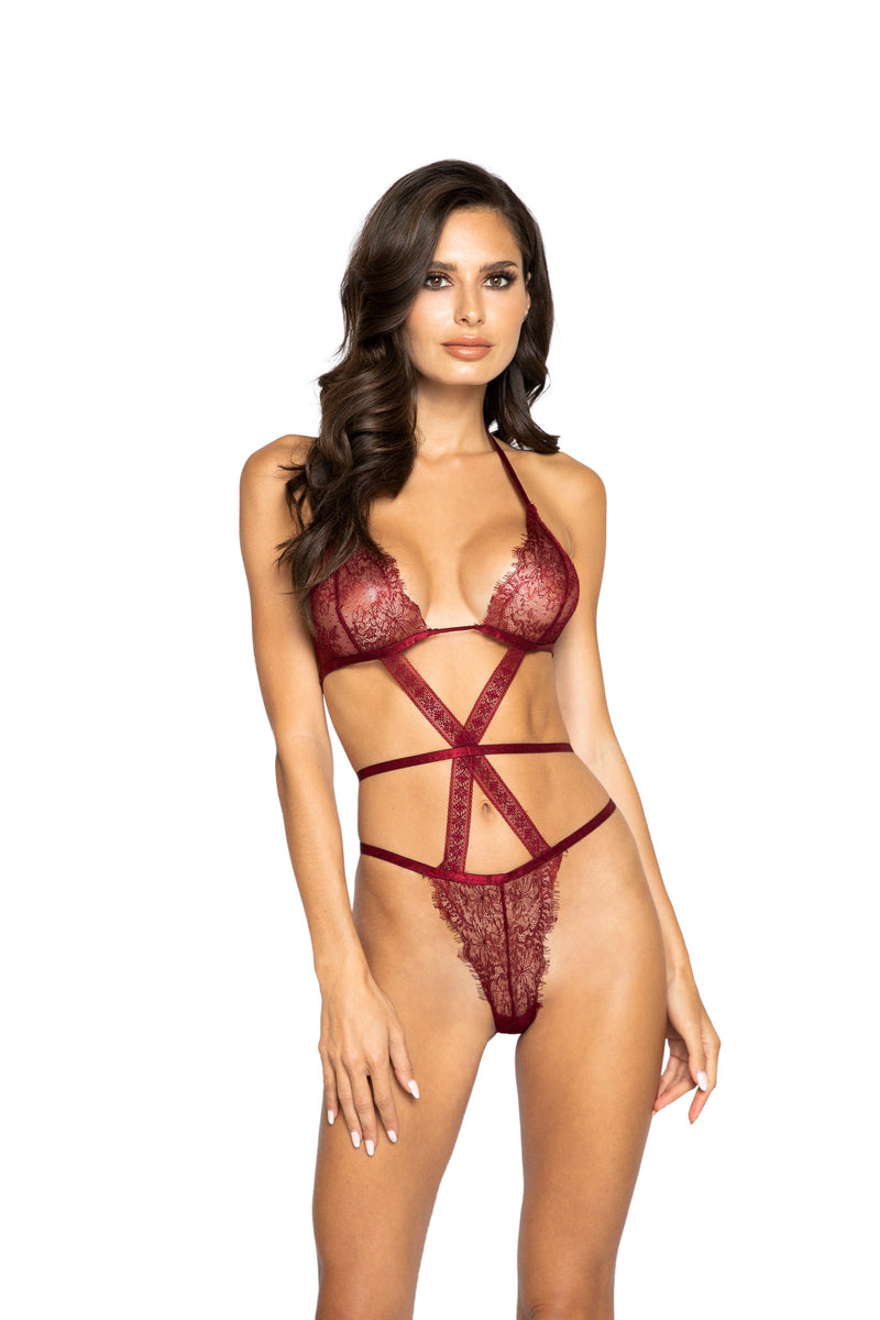 Night Closet Lingerie Strappy Eyelash Teddy