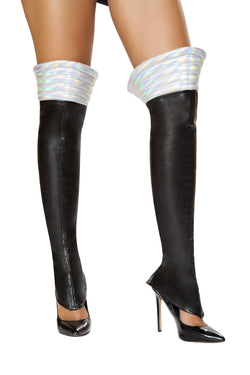 Black Space Girl Leggings