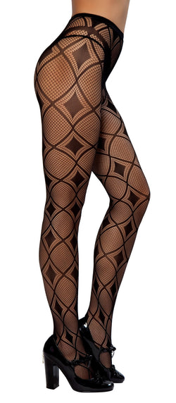 PH102 Diamond Print Pantyhose