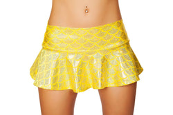 SK3315 - Yellow Flared Mermaid Skirt