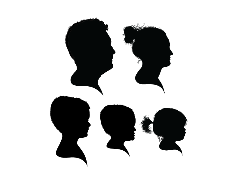 Five Silhouette Group