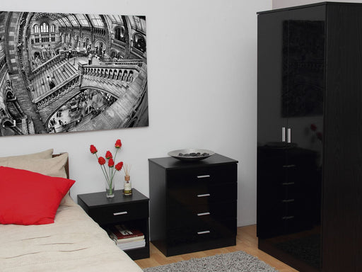 Black Gloss Bedroom Set