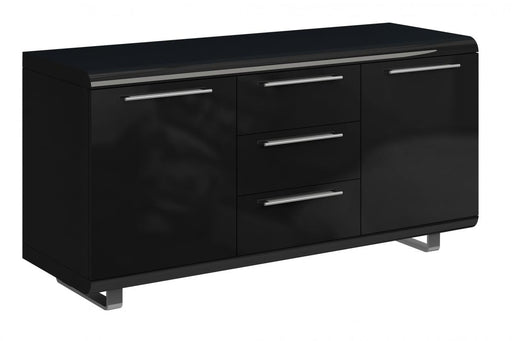 Newline Sideboard 2 Doors 3 Drawers Black