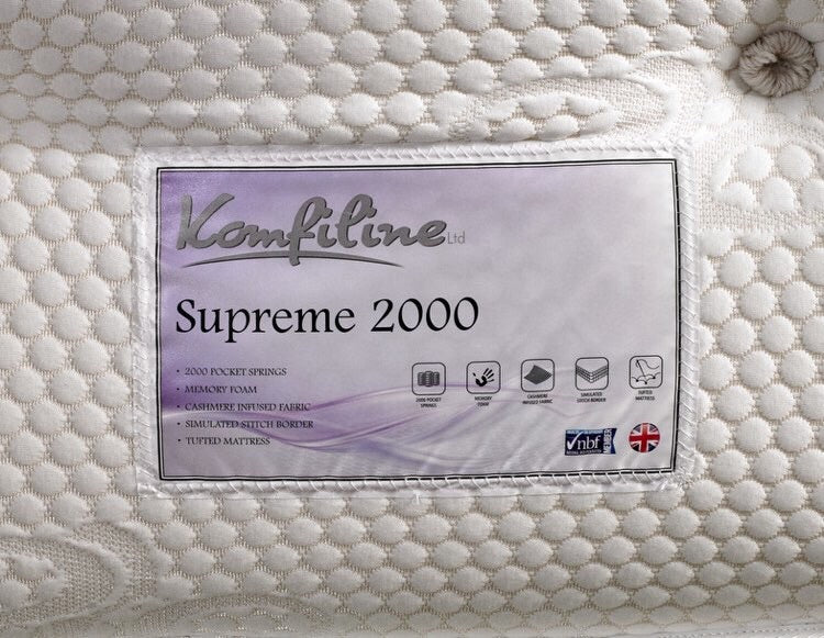 Supreme 2000 Pocket with memory topper