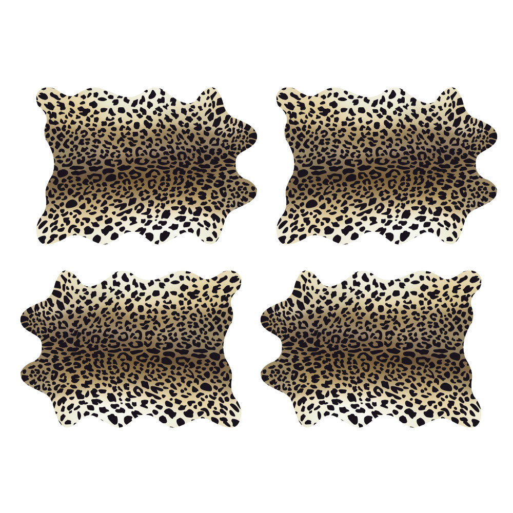 Set de 24 Individuales Papel Kraft, 32x45 cm. Animal Print LEOPARDO