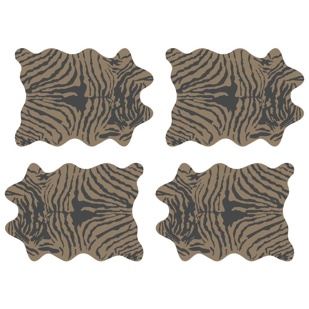 Set de 24 Individuales Papel Kraft, 32x45 cm. Animal Print ZEBRA