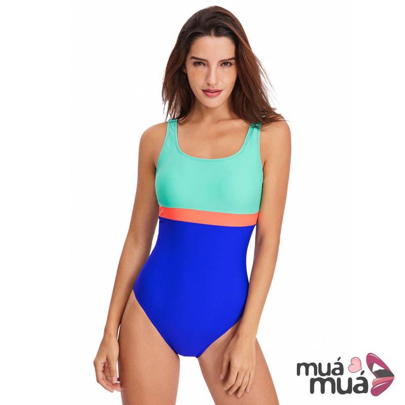 1c7fa8a9df6 Women's Athletic Swimsuits Racing Training Sports Bathing Suit Color Block  Swimwear ...