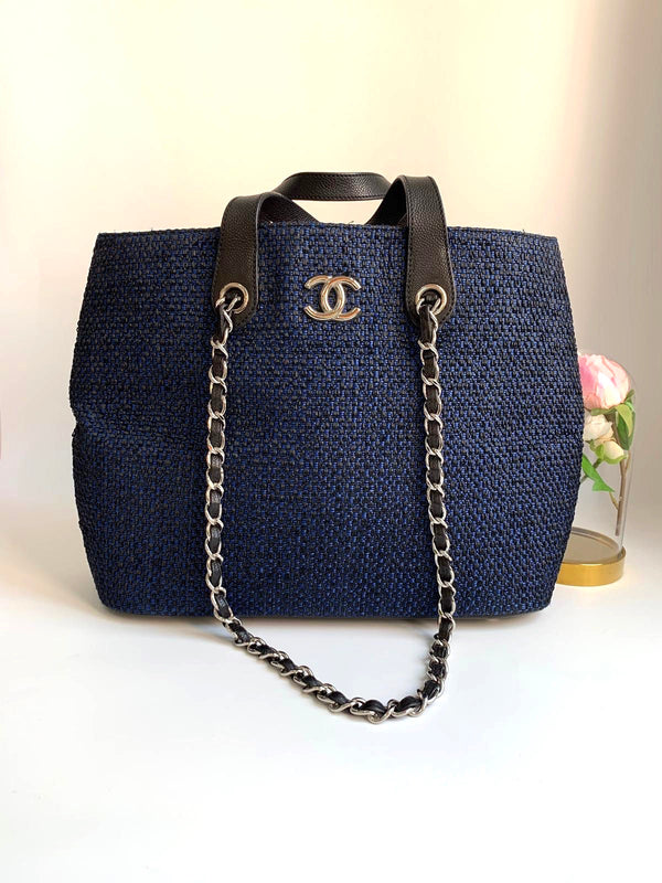 Chanel Shopping Woven Straw Large Tote Bag