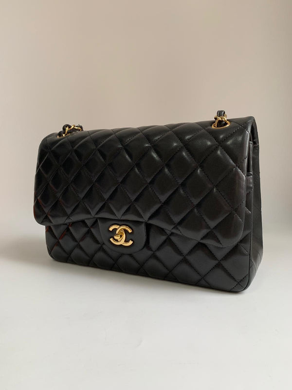 Chanel Classic Double Flap Jumbo Black Bag