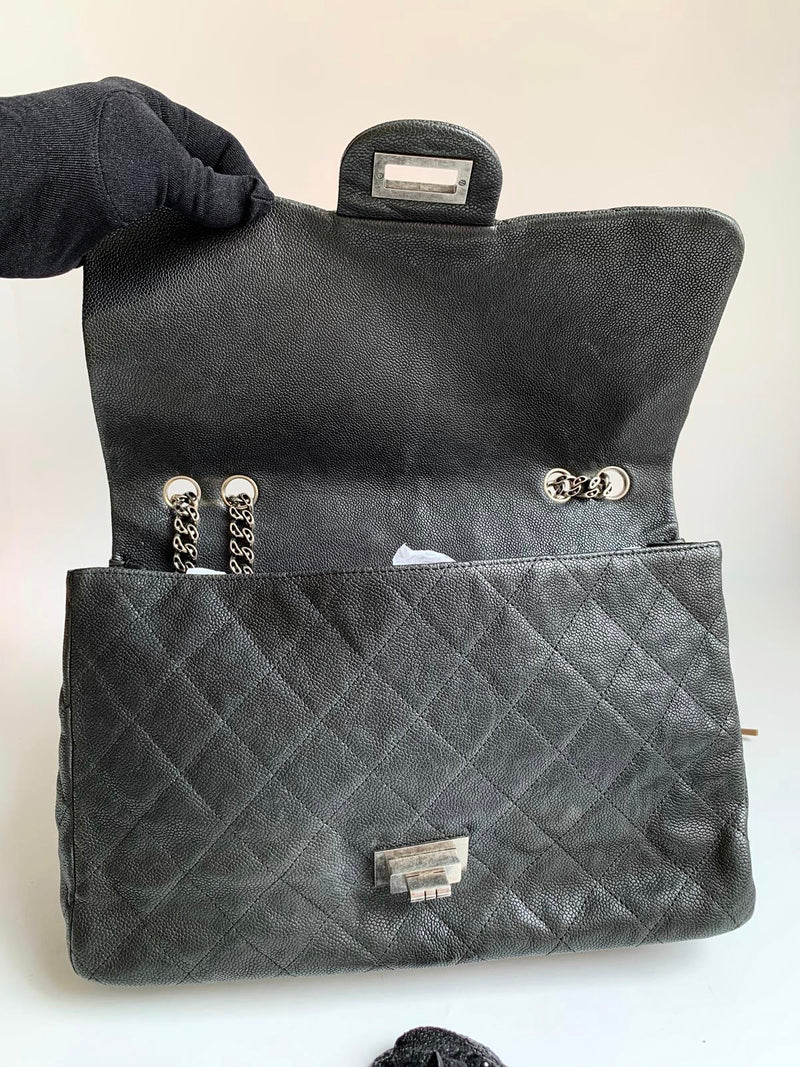 Chanel Reissue 227 Caviar Flap Bag