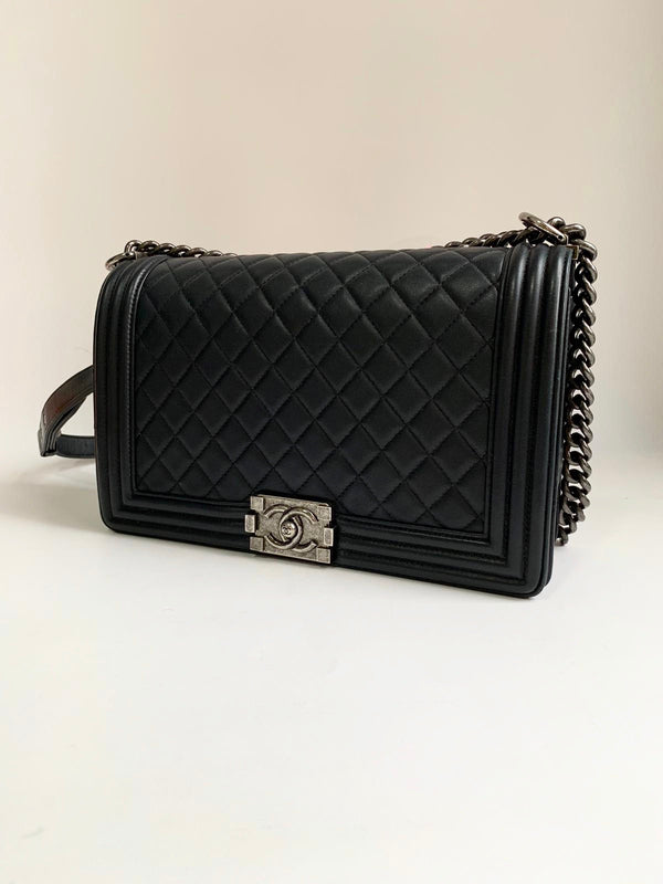 Chanel Boy New Medium Black Bag