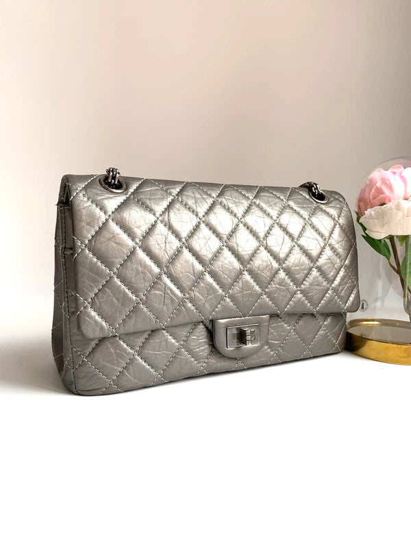 Chanel Reissue 226 Pearly Champagne Flap Bag