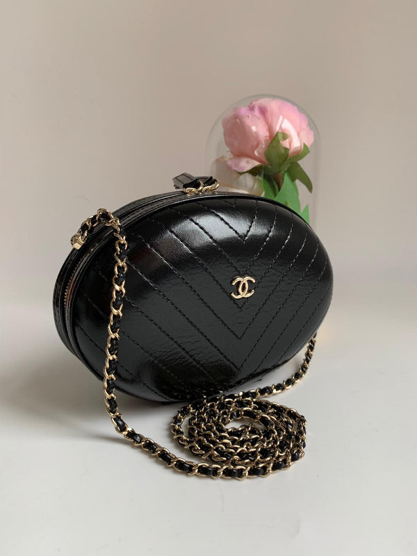 Chanel Mini Chevron Quilting Calfskin Bag