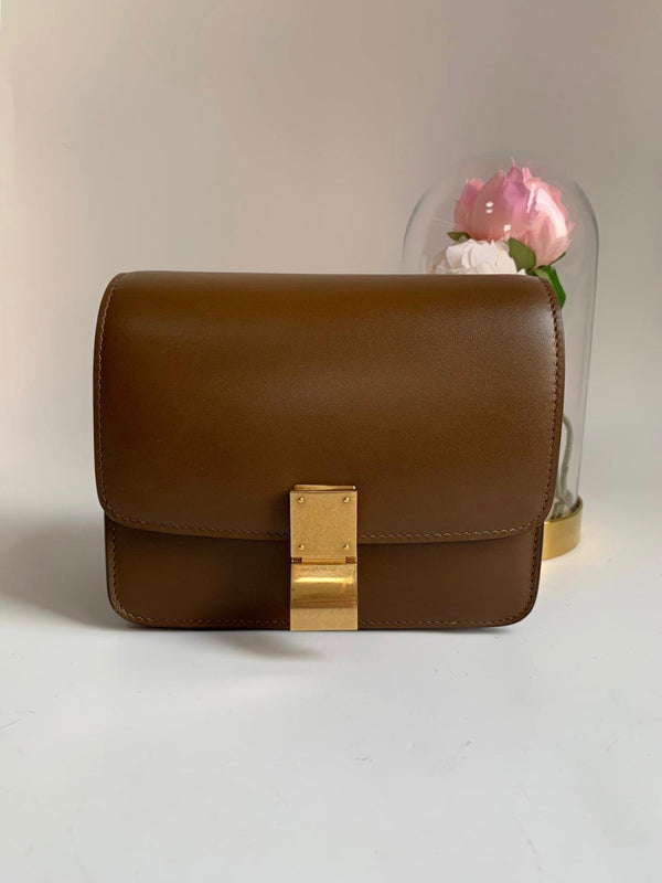Celine Small Box Flap Bag Camel
