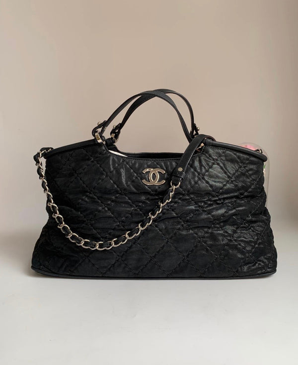 Chanel Sea Hit Black Iridescent Tote Bag