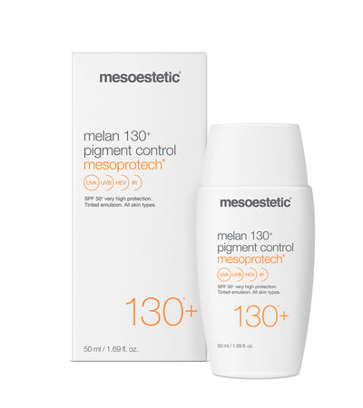 Melan 130 pigment control very high sunscreen högt solskydd mesoestetic