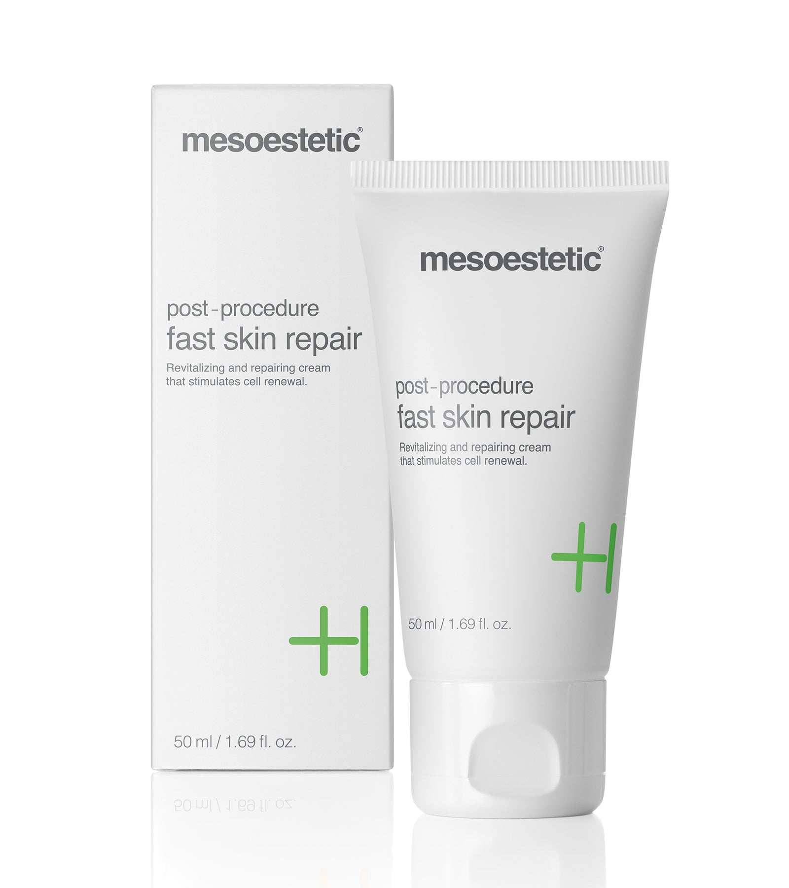 Post Procedure Fast Skin Repair mesoestetic reparerande lugnande dagcreme nattcreme