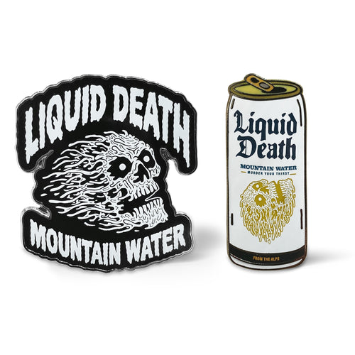 Liquid Death Pins