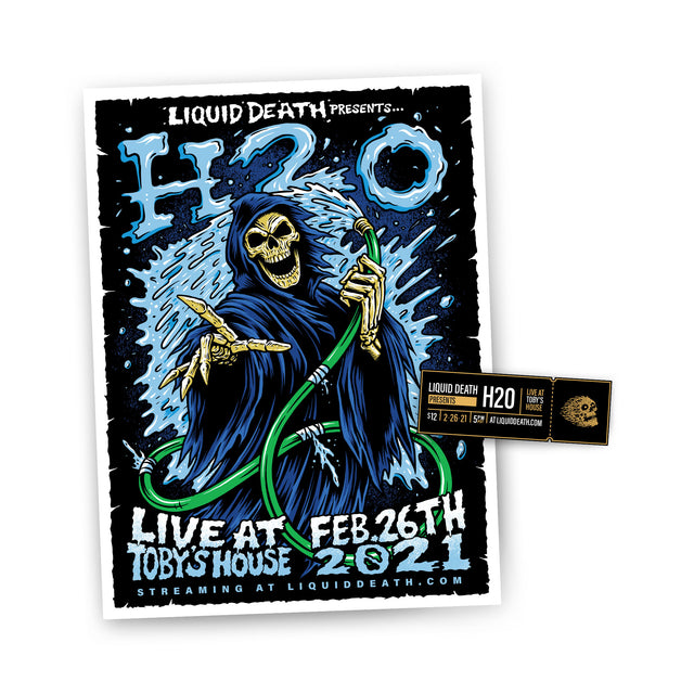 Live at Toby's Ticket + Poster