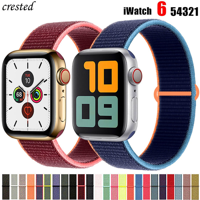 Pulseira Esporte Nylon 40mm 44mm 38mm 42mm Watch series 6 5 4 3