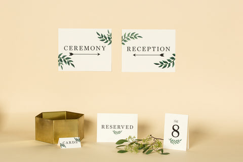 Wedding Signage, Card Box, Table Numbers
