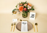 Table Numbers - Whimsical Floral Design