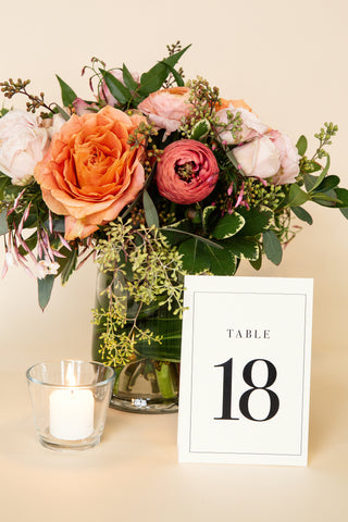 Table Numbers - Clean Classic Design