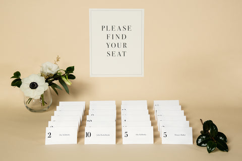 Place Cards, Printable Template - 'Classic' Design