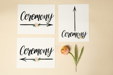 Wedding Signage - 'Floral' Design