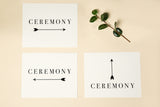 The Big Day Box© CLASSIC - place cards, table numbers, signage, card box, menus, and programs