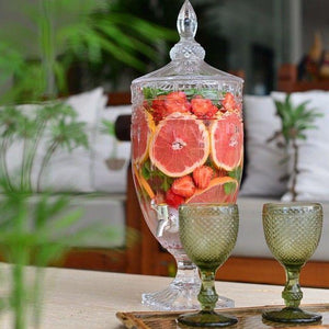 Drink Dispenser Glass Jar