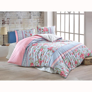 Brielle Burcu Duvet Cover Set (4 pcs) - Double Size - Pink
