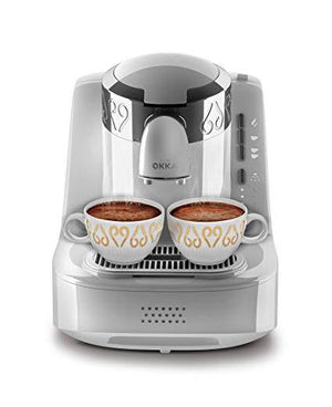 Arzum OKKA Turkish Coffee Machine | White - Chrome | OK002