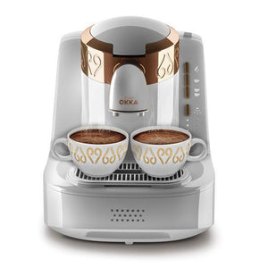 Arzum OKKA Turkish Coffee Machine | White - Golden | OK001