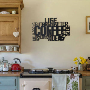 Hoagard Coffee Metal Wall Art | Geometric Metal Wall Art & Wall Decoration