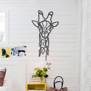 Hoagard Giraffe Metal Wall Art | Geometric Metal Wall Art & Wall Decoration