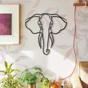 Hoagard Elephant Metal Wall Art | Geometric Metal Wall Art & Wall Decoration
