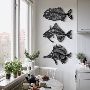 Hoagard Metal Wall Art | Fishbones