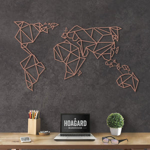 World Map metal wall art, office decoration, home decoration, study room decor