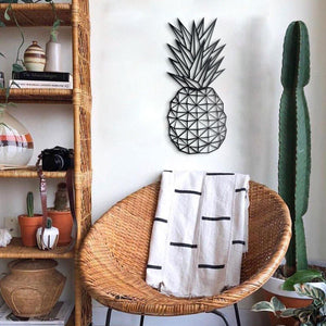 Hoagard Pineapple Metal Wall Art | Geometric Metal Wall Art & Wall Decoration