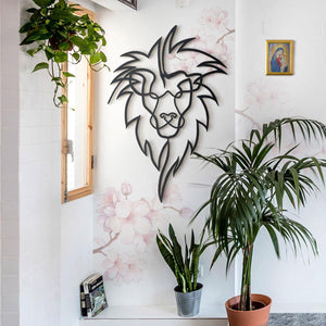 Hoagard Lion Head Metal Wall Art | Geometric Metal Wall Art & Wall Decoration