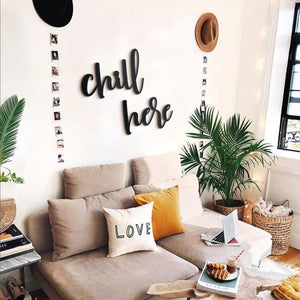 HOAGARD| Chill Here  |Metal Wall Decoration, Wall Scripts