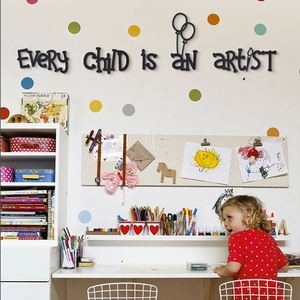Hoagard Metal Wall Art: Every Child Is An Artist for Kids Room