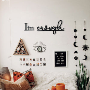 Hoagard Metal Wall Quotes | I'm Enough